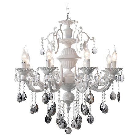P2304-8 Mat White/Iron+Zinc alloy+ clear crystal Люстра (MODERN LAMP)