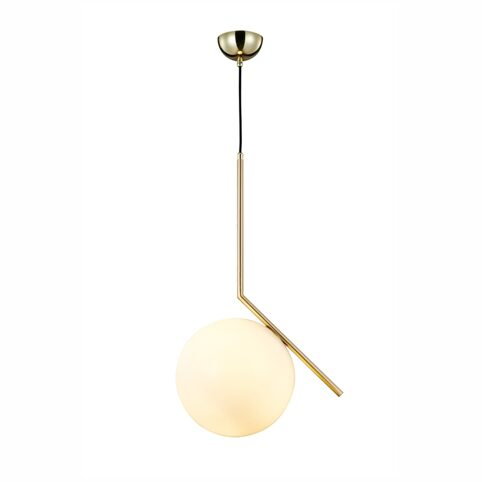 MD10563-1-300T-BRASS+WHITE/glass-brass- подвесной светильник (PRIMA LUCE_M)
