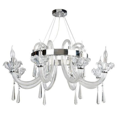 P5501-8 Iron+stainless steel+ cleare glass/crystal Люстра (MODERN LAMP)