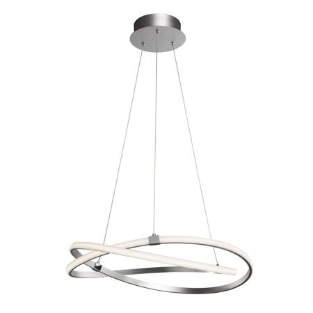 5381- LED/INFINITY PLATA/CHROME/SILVER+CH диам.71см.60W 3000K IP20 -подвесной светильник (MANTRA)