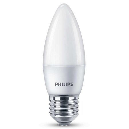 LED Лампа ESSimple Candle B38 6.5-60W E27 827 FR ND RCA (Philips)