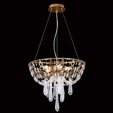 RP168234S Pearl GOLD+Clear подвесной светильник (PRIMA LUCE_W)